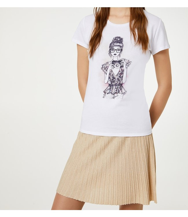 LiuJo LiuJo : T-shirt photo.-White