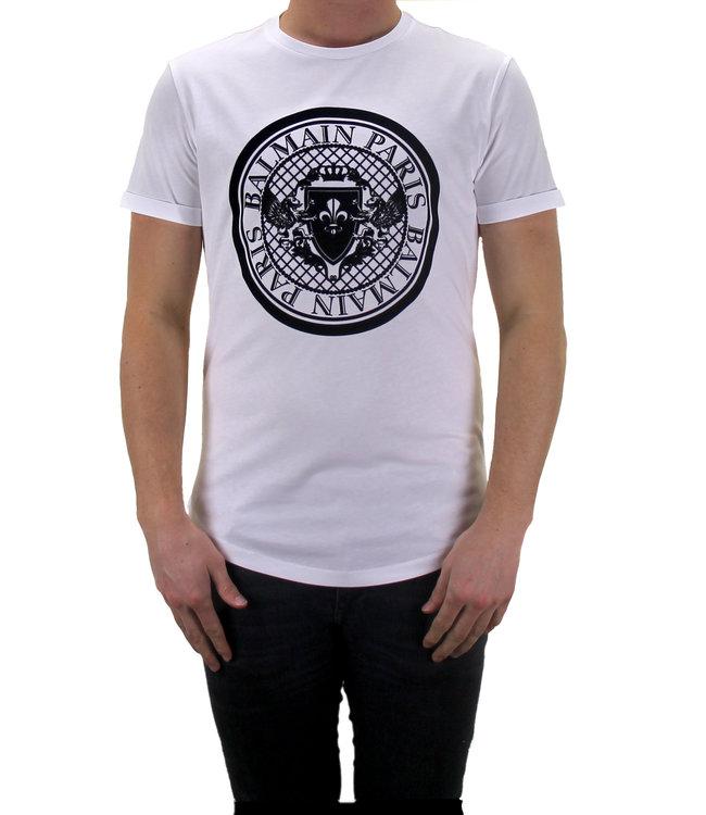 Balmain Balmain : T-shirt velvet logo-White