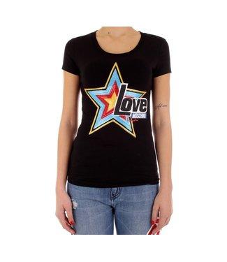 Love moschino Love Moschino : T-shirt Star-Black