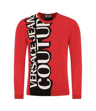 Versace Jeans couture Versace jeans : Sweater vert.logo-Red