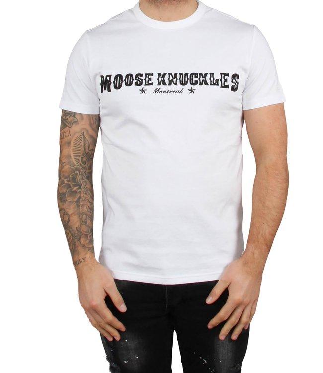 Moose knuckles Moose knuckles : T-shirt Western script-White