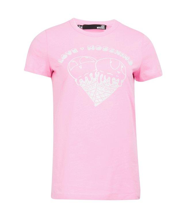 Love moschino Love Moschino : T-shirt Ice creame-Pink