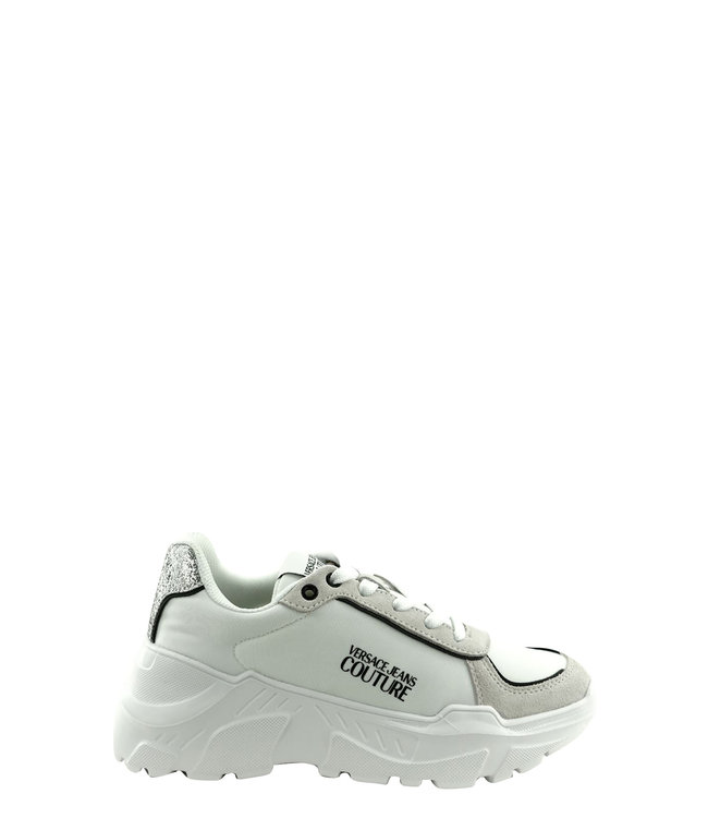 Versace Jeans couture Versace Jeans : Sneakers White glitter
