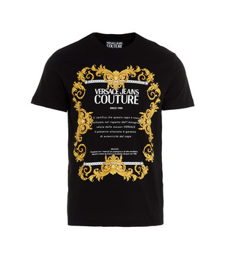 Versace Jeans couture Versace Jeans : T-shirt Transfer slim Black gold