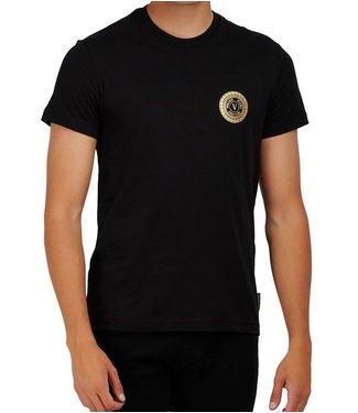Versace Jeans couture Versace Jeans : T-shirt Foil flat slim Black gold