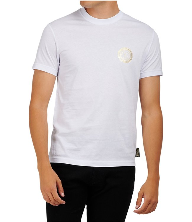 Versace Jeans couture Versace Jeans : T-shirt Foil flat slim White gold