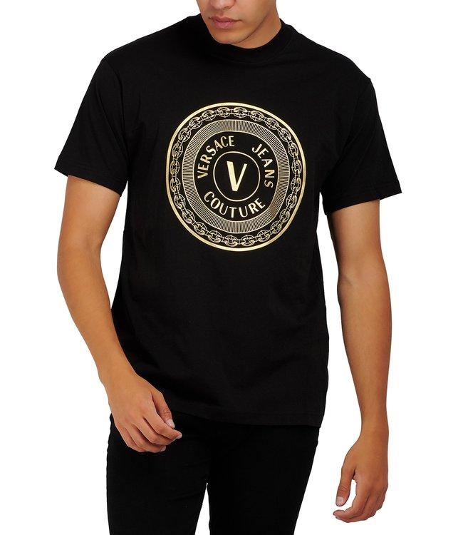 Versace Jeans couture Versace Jeans : T-shirt Foil reg Black gold