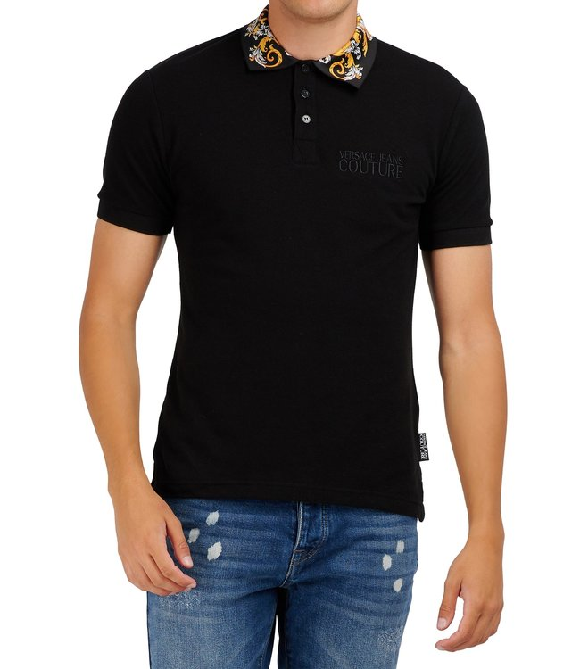 Versace Jeans couture Versace jeans : Polo zup621 slim Black baroque