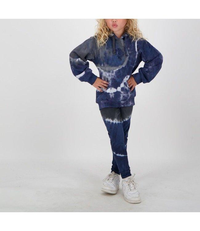 Reinders Reinders : Kids hoodie Tie Dye Dark blue-black