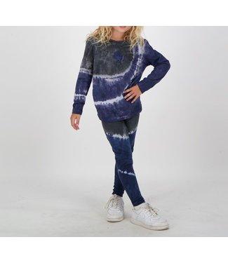Reinders Reinders : Kids shirt Tie Dye longsleeve-Dark blue-black