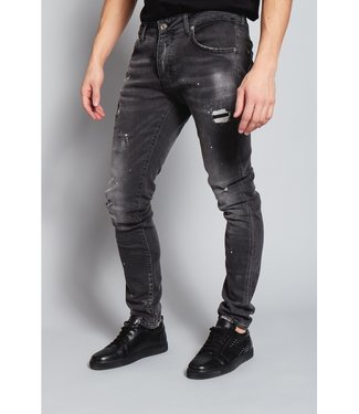 Mybrand Mybrand : Jeans Ripped faded-Black