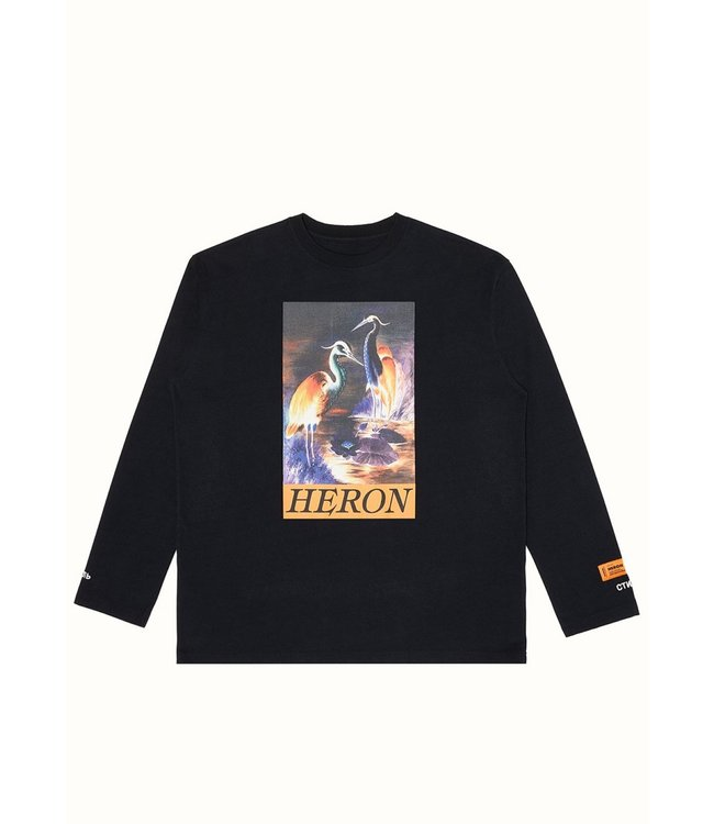 Heron Preston Heron Preston : Long sleeve-Black/Orange