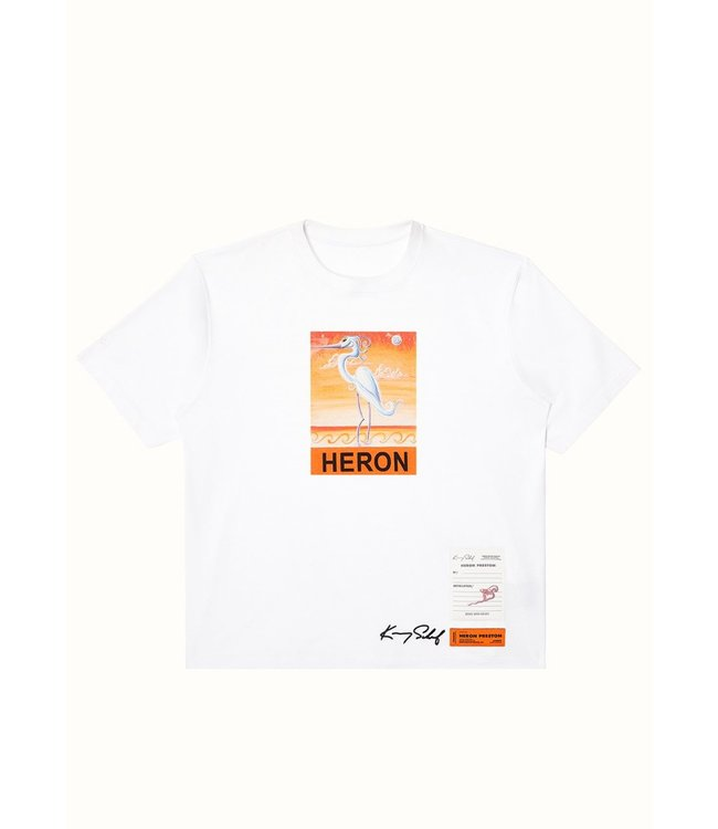 Heron Preston Heron Preston : T-shirt Kenny Scharf-White/Orange