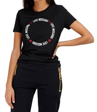 Love moschino Love Moschino : T-shirt Circle Black