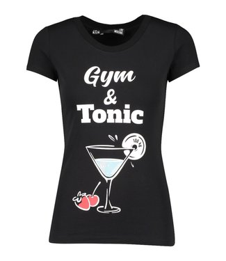 Love moschino Love Moschino : T-shirt Gym tonic-Black