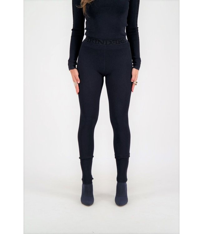 Reinders Reinders : Pants tight fit entarsia Dark blue