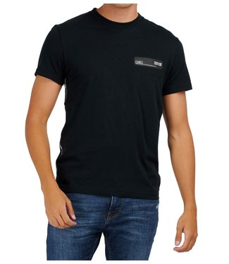 Versace Jeans couture Versace Jeans : T-shirt Tape logo slim Black