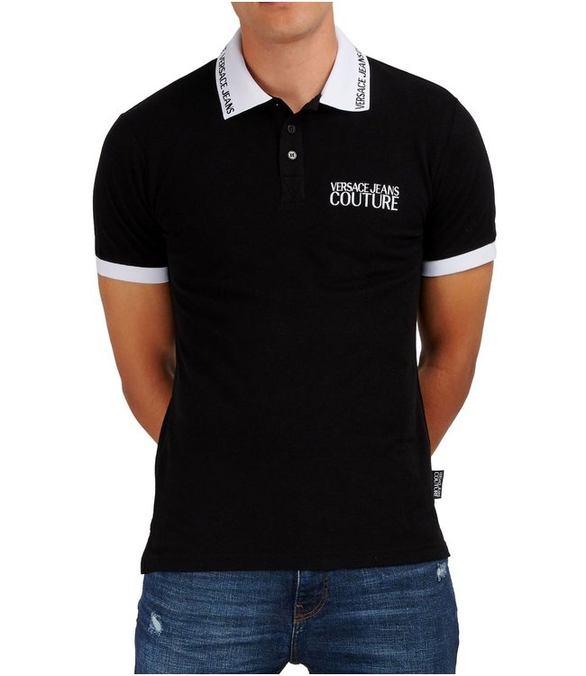 Versace Jeans couture Versace jeans : Polo Logo slim embro Black