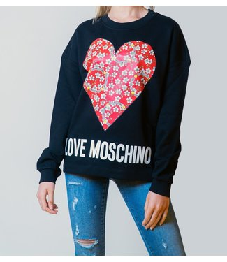 Love moschino Love Moschino : Sweater Heart-Black