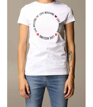 Love moschino Love Moschino : T-shirt Circle White