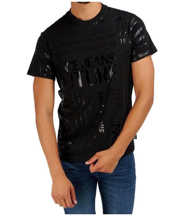 Versace Jeans couture Versace jeans : T-shirt slim garanzia-Black