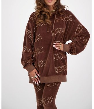 Reinders Reinders : Hoodie oversized-Dark brown