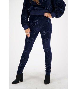 Reinders Reinders : Pants velvet-Dark blue