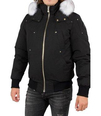 Moose knuckles :  Ballistic Bomber Black-Natural fur