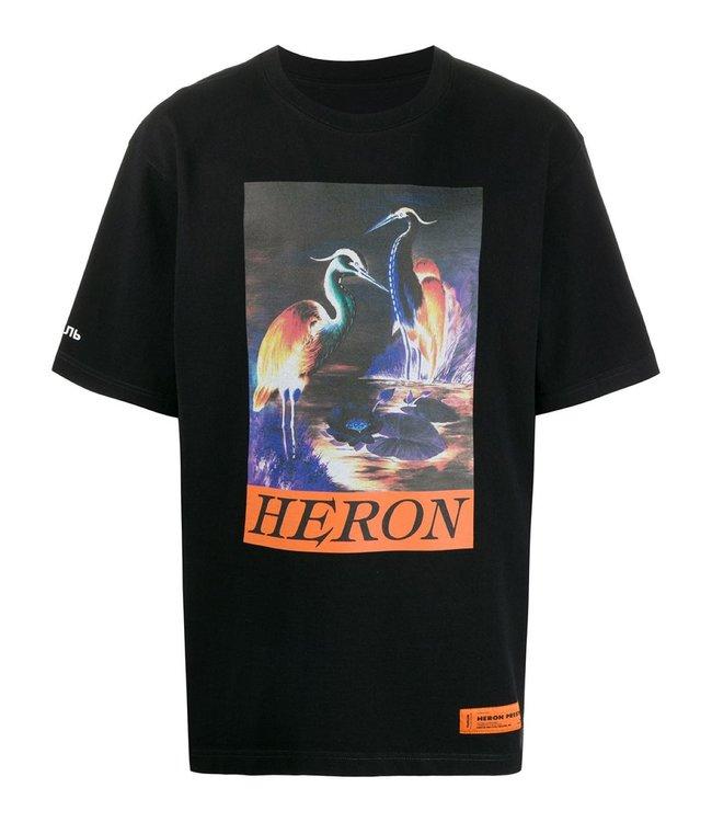 Heron Preston Heron Preston : T-shirt Birds-Black/Orange