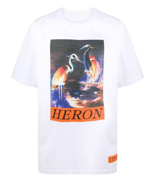 Heron Preston Heron Preston : T-shirt Birds-White/Orange