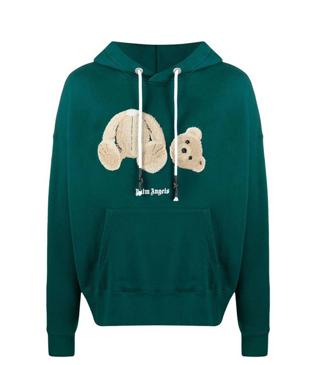 Palm Angels Palm Angels : Bear hoodie-Green