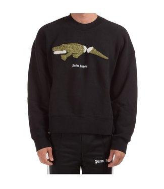 Palm Angels Palm Angels : Sweater croco-Black