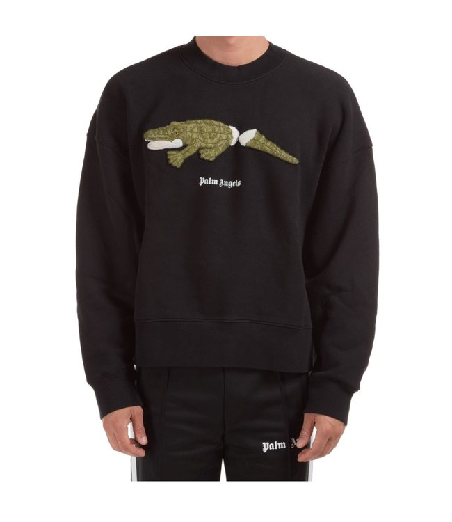 Palm Angels Palm Angels : Sweater croco-Black