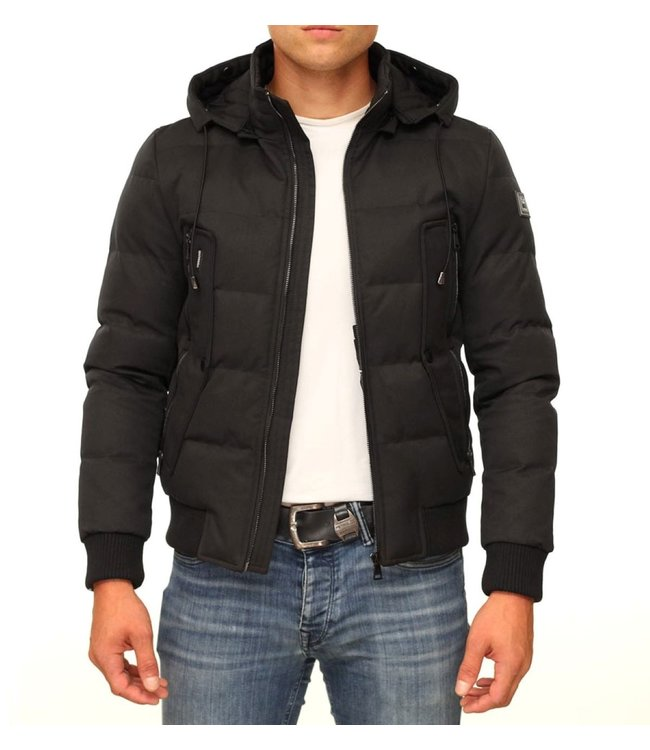 Versano Versano : Aviation Jacket-Black