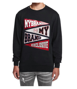 Mybrand Mybrand : Sweater branded flagged
