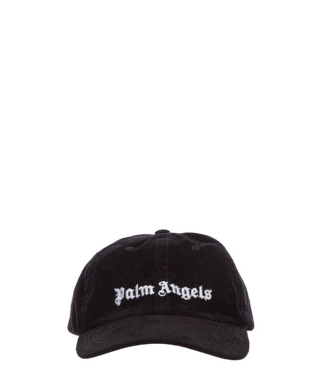 Palm Angels Palm Angels : Cap Corderoy logo-Black