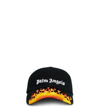 Palm Angels Palm Angels : Cap burning flame-Black