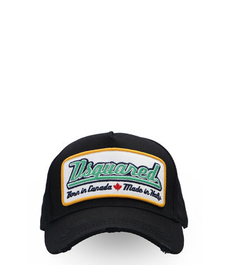 Dsquared2 Dsquared2 : Cap green logo-Black