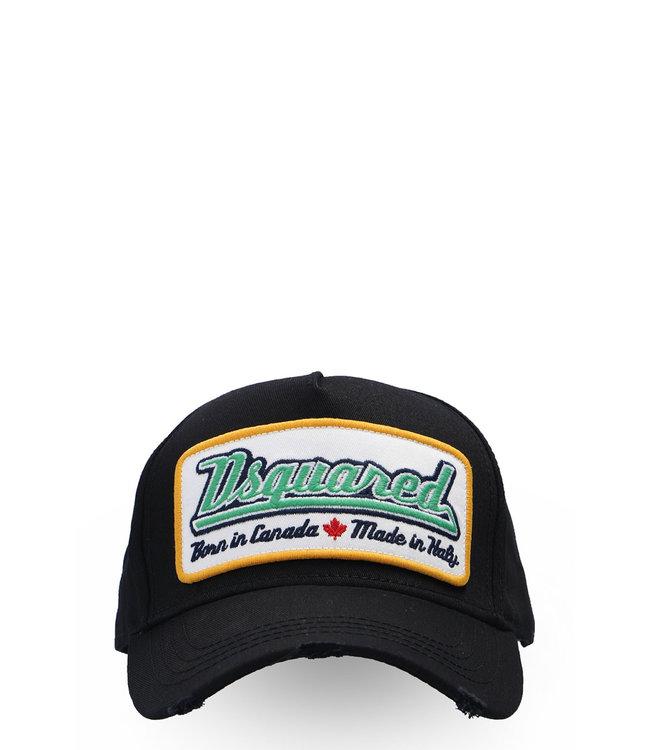 Dsquared2 Dsquared2 : Cap green logo-Black