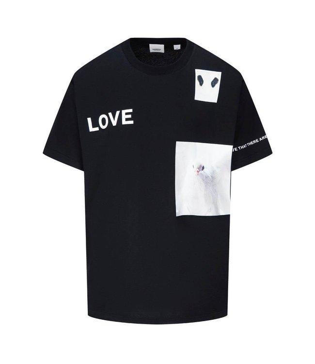 Burberry Burberry : T-shirt Montage Print-Black