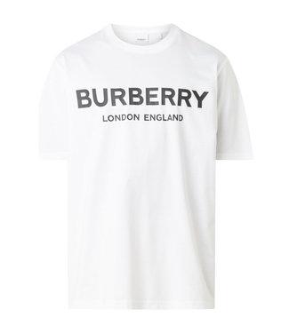 Burberry Burberry : T-shirt Letchford met logoprint-White