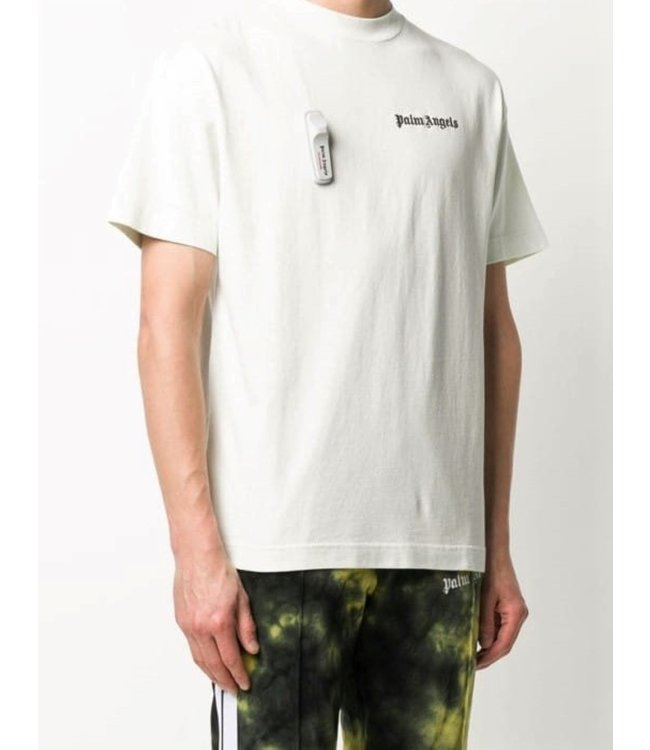 Palm Angels Palm Angels : Tee logo security tag-White