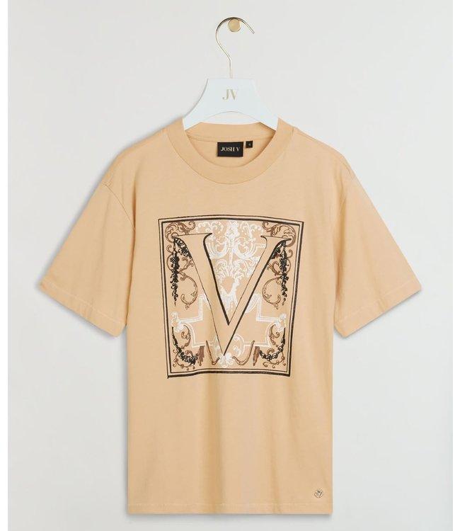 Joshv Joshv  : T-shirt Teddy baroque-Latte