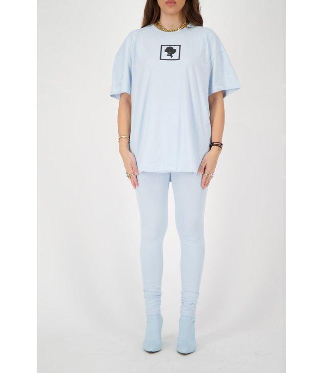Reinders Reinders : T-shirt Headlogo square-Baby blue