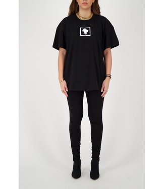 Reinders Reinders : T-shirt Headlogo square-Black