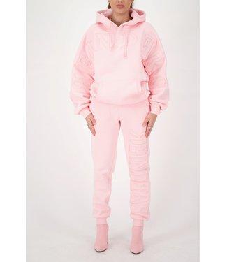 Reinders Reinders : Hoodie logo-Baby pink