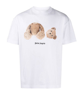 Palm Angels Palm Angels : Tee Bear-White-brown