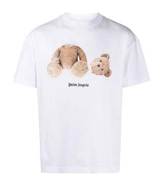 Palm Angels Tee Bear-White-brown