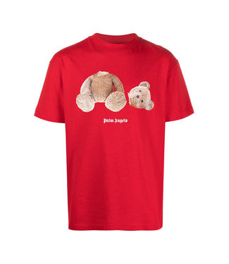 Palm Angels Palm Angels : Tee Bear-Red-brown