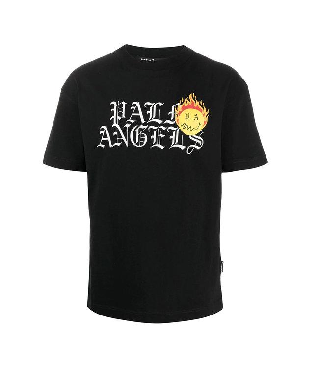 Palm Angels Palm Angels : Burning head logo-Black